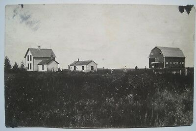 Merricourt ND Farm Scene Old 1916 Postcard; to Uchner, Nicholson; near Edgeley