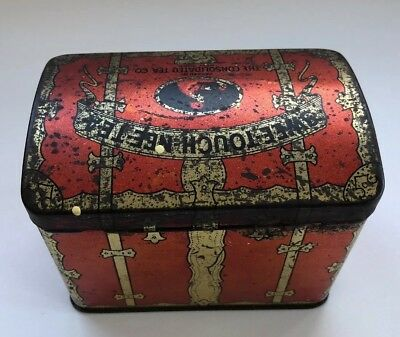 Vintage Swee-Touch-Nee-Tea Trunk Tin Container The Consolidated Tea Co New York