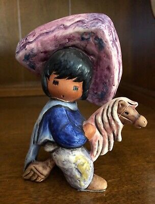 "DeGrazia Figurine ""My First Horse"" Special Edition made by Goebel"