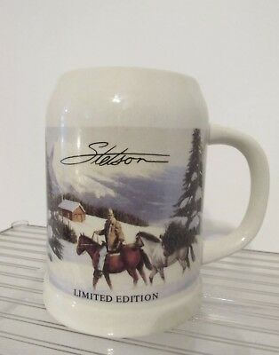 Stetson limited edition beer stein/mug winter scene very nice free.