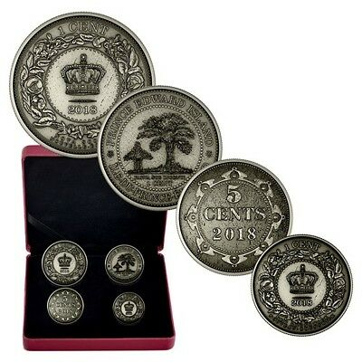 Pure Silver 4-Coin Set - Colonial Currency of the Atlantic Provinces (2018)