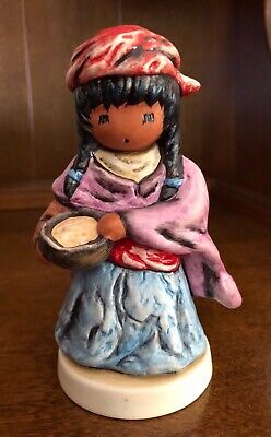 "DeGrazia Figurine ""Little Cooking Girl"" Ltd Edition made by Goebel"