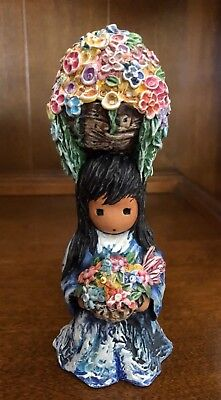 "DeGrazia Figurine ""My Gift of Flowers"" - Goebel"