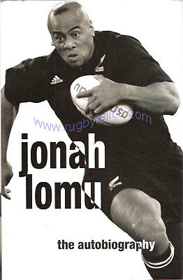 Jonah LOMU New Zealand All Black RUGBY BOOK The Autobiography