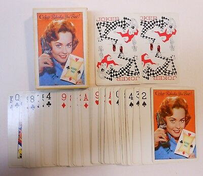 """Vintage Coca Cola 1961 """"Score Pad"""" Deck of Playing Cards"""