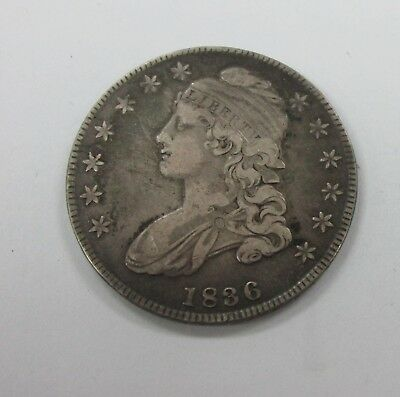 1836 Capped Bust Half Dollar O-120 R4 Small Date Small Letters VF #