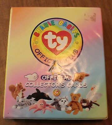 5f34a8daafe Lot of Ty Beanie Babies Trading Cards Series 1   2 Binder + 344 Cards in