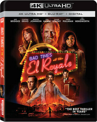 Bad Times At El Royale [New 4K Ultra HD] With Blu-Ray, 4K Mastering, Dolby, Su