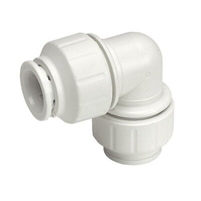 John Guest Speedfit PEM0315W 15mm Equal Elbow - White - Pack of 10