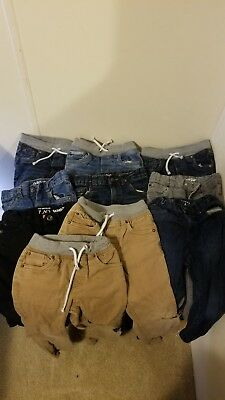 Boys 4T Cat And Jack jeans and the children's place lot of 10 jeans