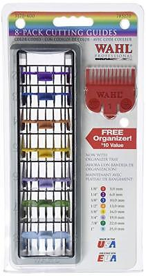 WAHL Hair Clipper 8 Pack Color Coded Cutting Guides & Tray 3170-400