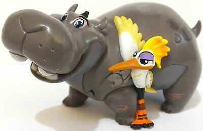 "Beshte Hippo and Ono Bird 4"" PVC Action Figure Disney Jr The Lion King Guard"