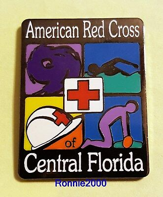 CENTRAL FLORIDA CHAPTER  American Red Cross pin  Orlando, hurricane