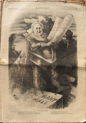 1876 Three Thomas Nast Cartoons - The Ghost of Tammany Hall - The White House