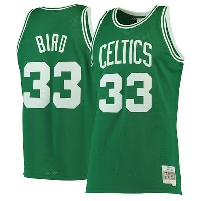 pretty nice c2cc9 13e45 LARRY BIRD #33 Boston Celtics Classic Green Retro Throwback Swingman NBA  Jersey