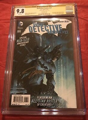Batman Detective Comics:The New 52 #27 Jim Lee 1:50 Variant CGC 9.8 Auto Jim Lee