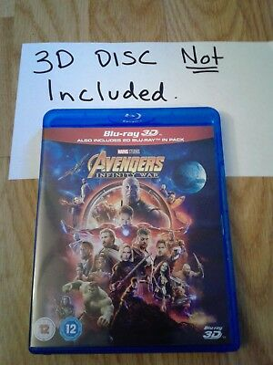 Disney Marvel Avengers Infinity War 2D blu ray only! 3D DISC NOT INCLUDED!