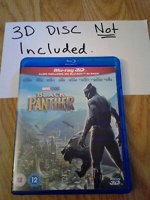 Disney Marvel Black Panther 2D Blu-Ray only! 3D DISC NOT INCLUDED!