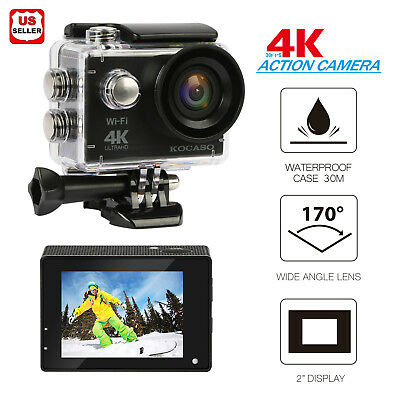 Ultra HD 4K WIFI Sport Action Camera HDMI Waterproof Case Driving Accessories us