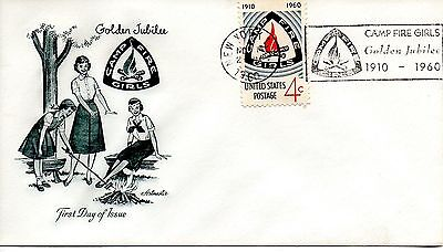 US FDC #1167 Camp Fire Girls Unofficial, Artmaster (5179)ab