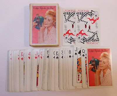 """Vintage Coca Cola 1961 """"Lady Bowler"""" Deck of Playing Cards"""