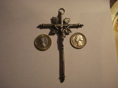 Awesome Spanish Very Big Cross Sterling Silver Spain 17-18 Century ..