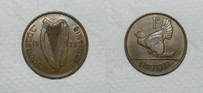 IRELAND : PENNY 1928 - EF Some Lustre -  NICE