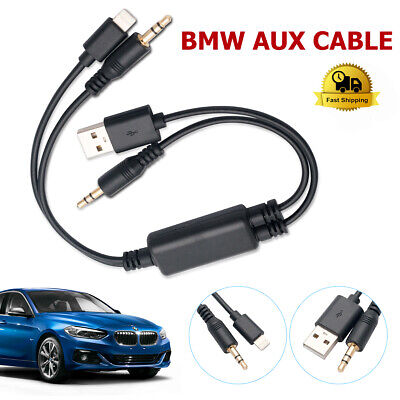 new products 0e0ee ad7de LIGHTNING Y CABLE For BMW MINI USB AUX-In Interface Audio Adapter ...