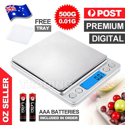 Food Scale LCD Digital Electronic Balance Weight Postal Scales Kitchen 0.01-500g