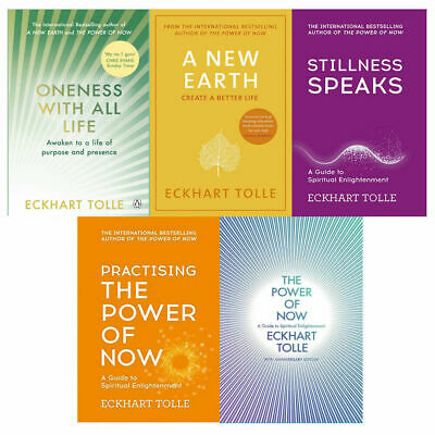 Eckhart Tolle 5 Books Collection Pack Set Power of Now,Oneness With All Life NEW