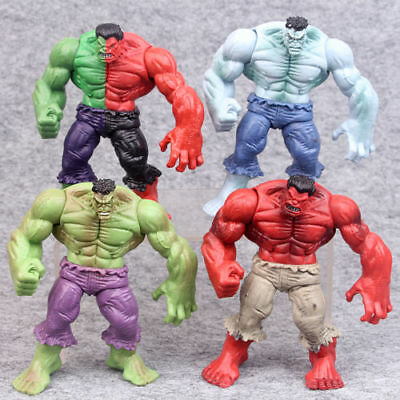 "4 PCS THE INCREDIBLE Hulk Verde Rosso Legends HULK Azione figura 4.3"" Avengers"