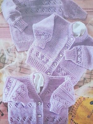 885f2dd5d LAYETTE IDEAL PREMATURE BABY OR DOLL KNITTING PATTERN DK Yarn Tiny ...