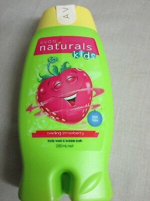 Avon Naturals Kids Swirling Strawberry Body Wash and Bubble Bath