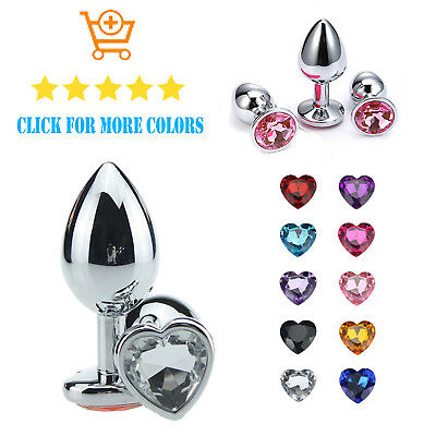 Butt Toy Plug Anal Heart Jeweled Gem + Same Day Shipping