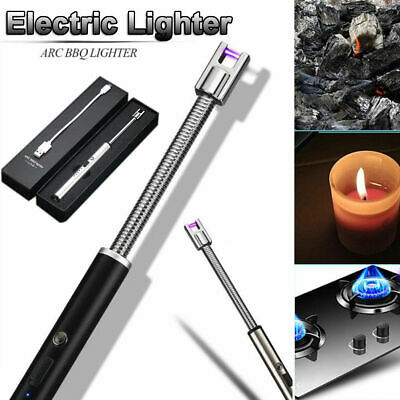 Electric Candle Lighter USB Rechargeable Flameless Windproof Arc Plasma Lighter