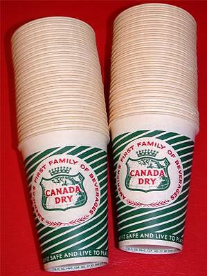 48 Vintage 1950's 1960's Dixie CANADA DRY BEVERAGES SODA CUPS Store Stock NOS !!