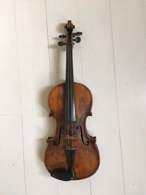 German antique violin (Stradivarius copy) c.1870-1890. Workshop made.Tiger Maple