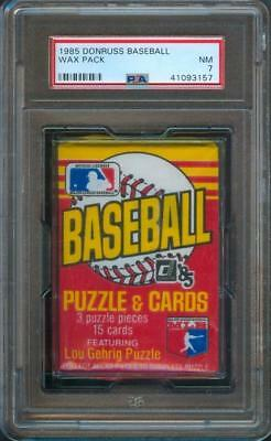 1985 Donruss Original BASEBALL CARD Unopened Wax Pack PSA 7
