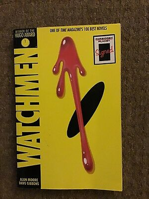 Watchmen by Alan Moore (Paperback, 2014) SIGNED by Dave Gibbons - Illustrator