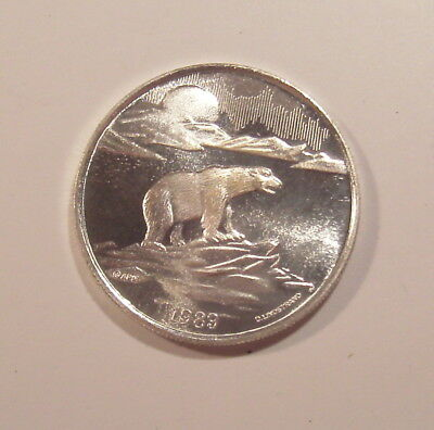 1989 Official Alaska Commemorative Medallion 1 Oz .999 Silver Proof Round