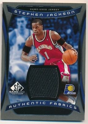 Stephen Jackson 2004 05 Sp Game Used Authentic Fabric Pacers Relic Jersey F1 1d3a5b725