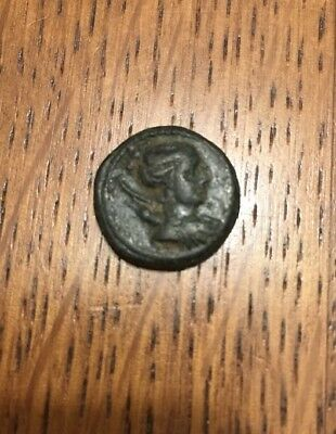 KYME in AEOLIS Genuine 100BC Authentic Ancient Greek Coin ARTEMIS w Bow & VASE
