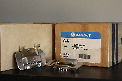 Band-It Giant Buckles 1 1/4 Inch Stainless Steel G442 G44299 32mm (Box of 25)
