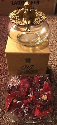 Vanilla Essence Potpourri with Cherub Bowl Avon NIB