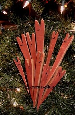 = 10 Pencil HEARTS VaLeNTiNe Primitive Ornies Ornaments Great Tree Filler!