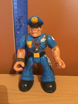 Rescue Heroes Sergeant Siren Policeman Action Figure Mattel Fisher Price 77461