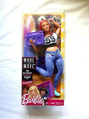 2017 Barbie Made to Move Dancer Curvy Doll New In Box