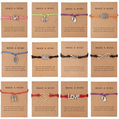 Fashion Wish Bracelet Friendship Daughter Mum Sister Girlfriend Birthday Gifts