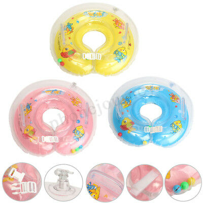 Inflatable Circle Newborn Neck Float Infant Baby Swimming Swim Ring Safety New !