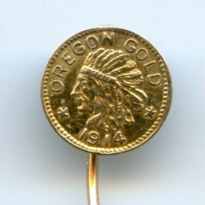 1914 Oregon Fractional Gold $1/4 / Hart's Coins of the West